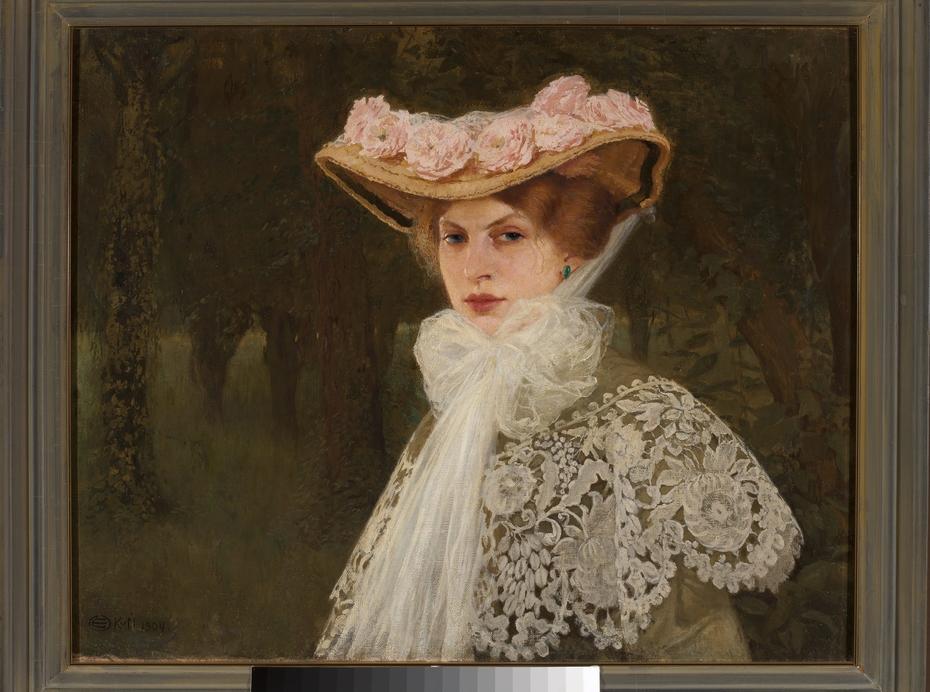 Portrait of Zofia Okuń née Tolkemit, the artist's wife