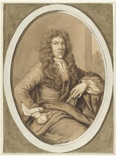Portret van een jonge man, in ovaal
