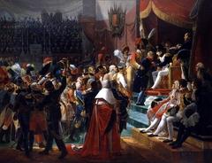 Première distribution des croix de la Légion d'honneur dans l'église des Invalides par l'empereur, 14 juillet 1804