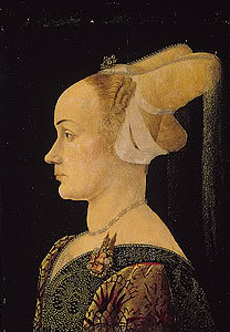 Profile portrait of a lady