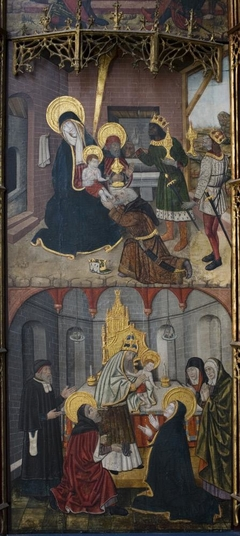 Retablo with Scenes from the Life of the Virgin-The Adoration of the Magi & The Presentation in the Temple