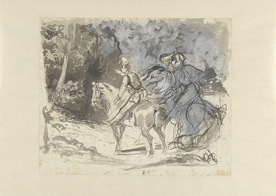 Richard en Wamba zien de mannen van Jan Zonder Land