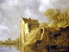 River Landscape with a Ruin