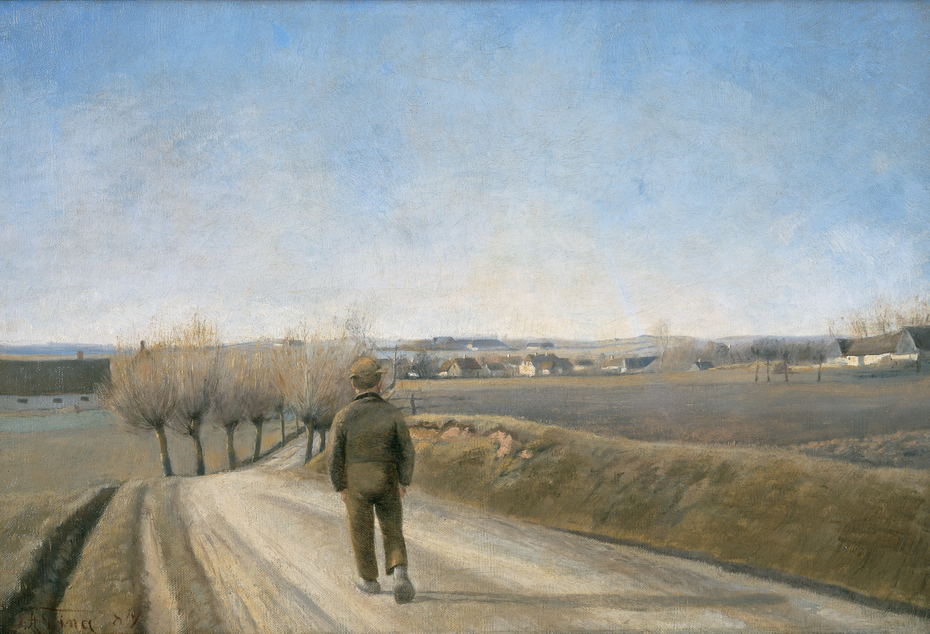 Road with Boy