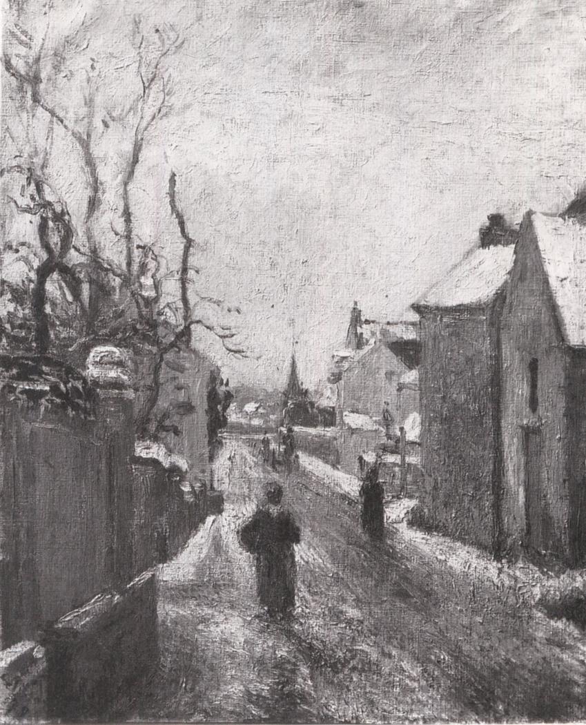Rue de l'Hermitage, Pontoise, Effect of Snow