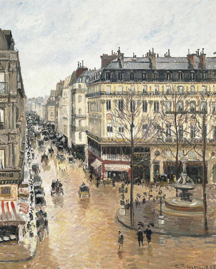 Rue Saint-Honoré in the Afternoon - Effect of Rain