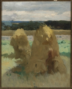 """Rye sheaves in the field, study for the triptych """"Bread"""""""