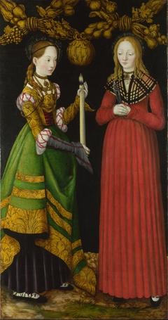 Saints Genevieve and Apollonia