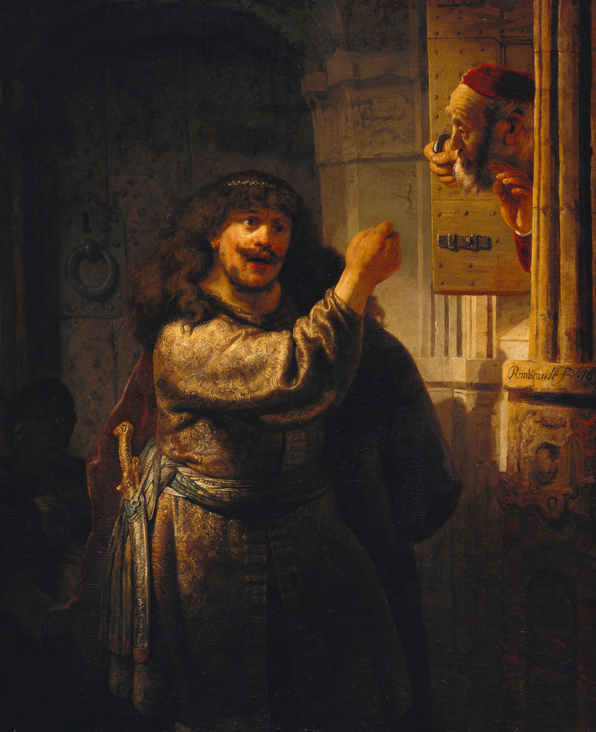 Samson threatens his father-in-law