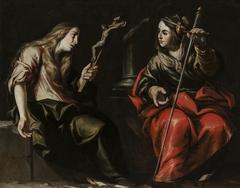 Santa María Magdalena y Santa Catalina by Antonio del Castillo
