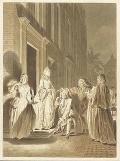 Scene uit Lubbert Lubbertse, of de geadelde boer