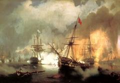 Sea battle at Navarino on October 20 1827