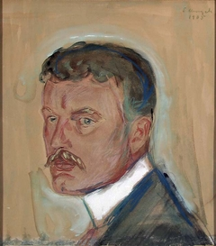 Self-Portrait with Moustache and Starched Collar