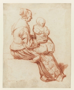 Sitting Woman with a Child on her Lap