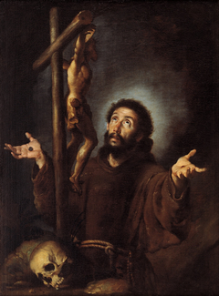 St Francis of Assisi adoring the Crucifix