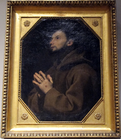 St. Francis of Assisi praying