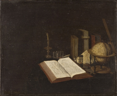 Still Life with Books and a Globe