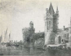 Stronghold at a waterside