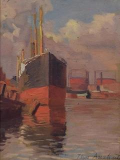 Tanker in Dock, Port Richmond