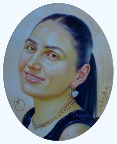 Teimuraz Kharabadze. Portrait of a  Nino kharabadze