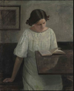 The Artist's Wife in White Reading