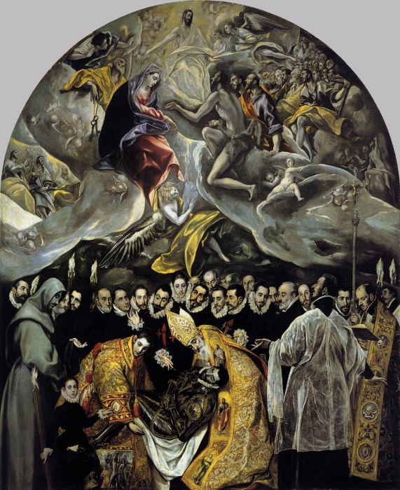 """""""The Burial of the Count of Orgaz"""" El Greco - Artwork on USEUM"""