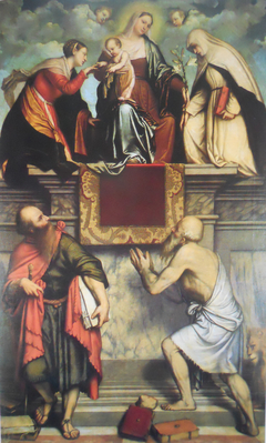 The Mystic Marriage of Saint Catherine of Alexandria with Saints Catherine of Siena, Paul and Jerome