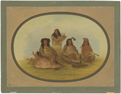 The Sioux Chief with Several Indians