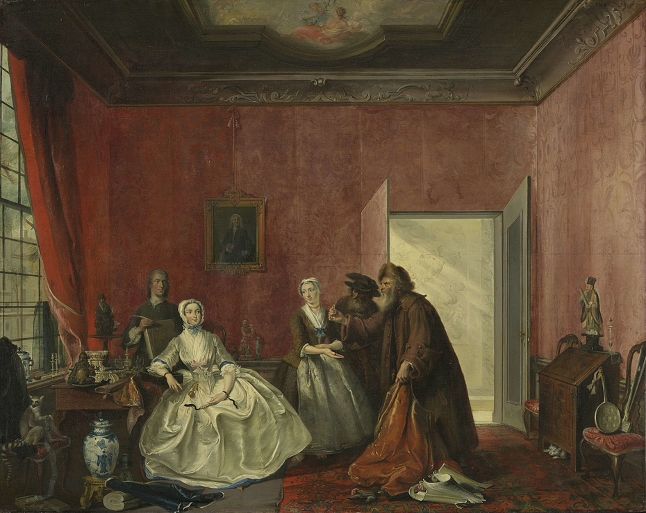 The Spendthrift or the Wasteful Woman, act III, scene V, from the Play by Thomas Asselijn (Joanna and the Polish Jewish Traders)