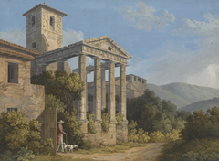 The Temple of Hercules in Cori near Velletri
