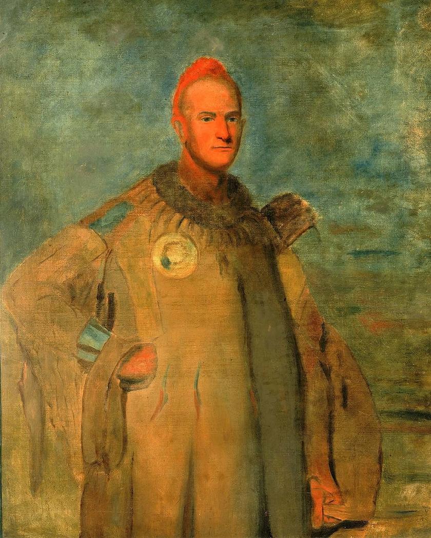 Theodore Burr Catlin, in Indian Costume