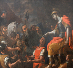 Tomyris Plunges the Head of the Dead Cyrus Into a Vessel of Blood