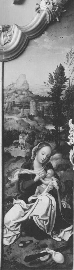 Triptychon, rechter Flügel: Flucht nach Ägypten