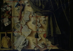 Trompe l'oeil of a Letter Rack with Proclamation by Frederik III