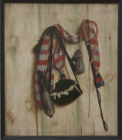 Trompe l'Oeil with Riding Whip and Letter Bag