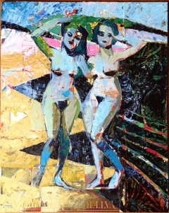 Two Nudes by the Shore