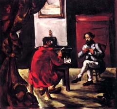 Une lecture de Paul Alexis chez Zola (A reading of Paul Alexis at Zola)