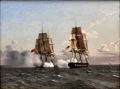Match between the English frigate