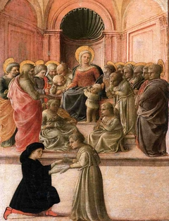 Madonna and Child with Saints, Angels and a Donor