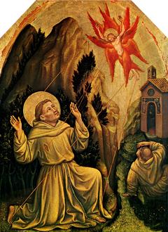 Saint Francis receives the Stigmata