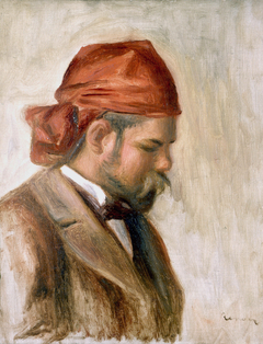 Vollard avec un foulard rouge
