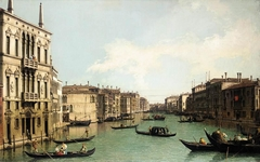 Venice: The Grand Canal, Looking North-East from Palazzo Balbi to the Rialto Bridge
