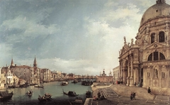 Venice: The Grand Canal with Santa Maria della Salute, towards the Bacino