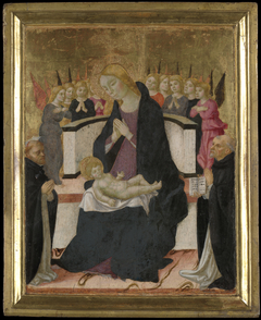 Virgin Mary and the Infant Jesus with Saints andAngel