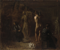 William Rush Carving His Allegorical Figure of the Schuylkill River,Study