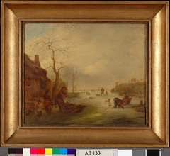 Winter Landscape, copy after Isaac van Ostade