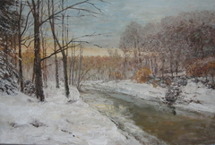 """Winter motif with river"""