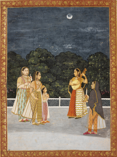 Women in a Garden on a Moonlit Night