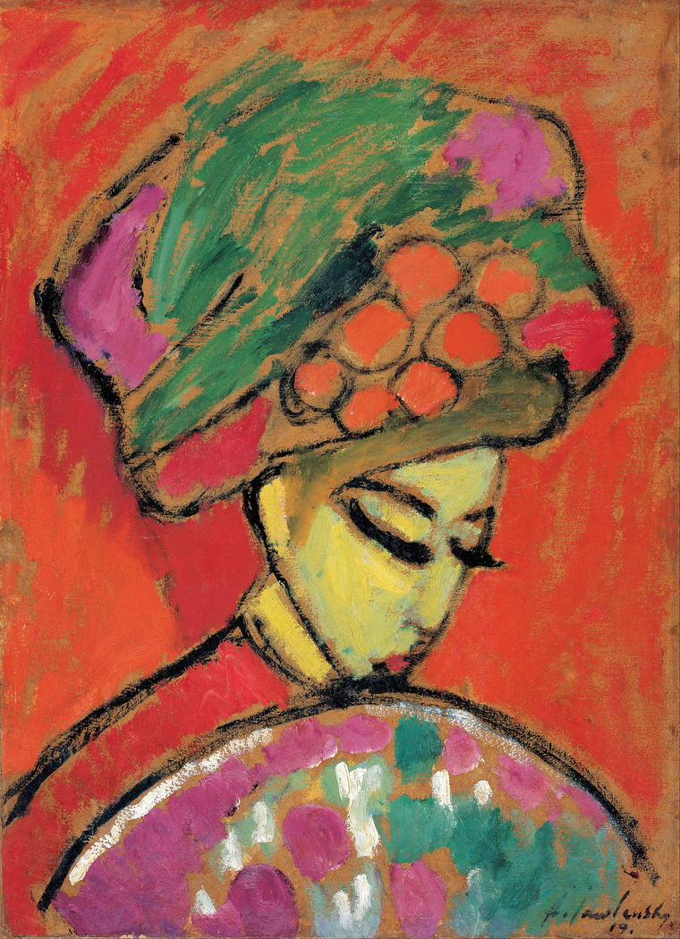 Girl with Flower hat (Wearing a Turban)