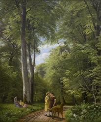 A Beech Wood in May near Iselingen Manor, Zealand